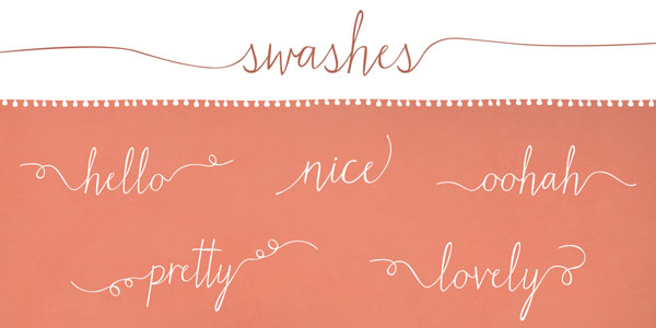 Matchmaker calligraphy script typeface by angie baldelomar