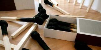 Matchstickmen Art Installation by Wolfgang Stiller