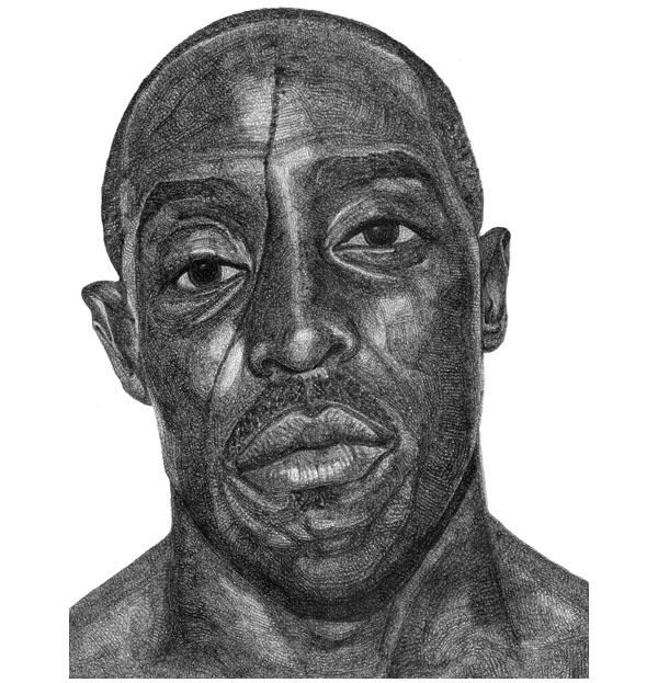 Michael K. Williams - Drawing by Jacob Everett