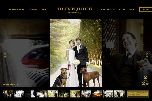Olive Juice Studios Website Design by Eight Hour Day