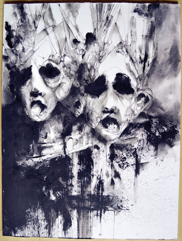 Painting by Eric Lacombe