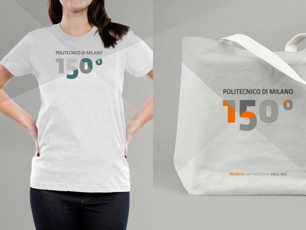 Politecnico di Milano 150° ANNIVERSARY - T-Shirt and Bag Design