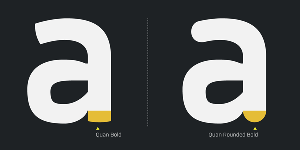 Quan Bold and Quan Rounded Bold by Typesketchbook