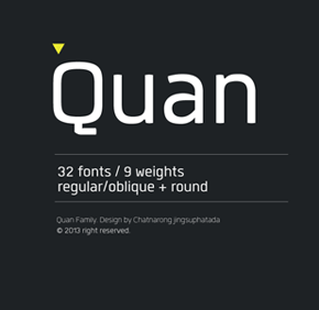 Quan Font Family by Typesketchbook