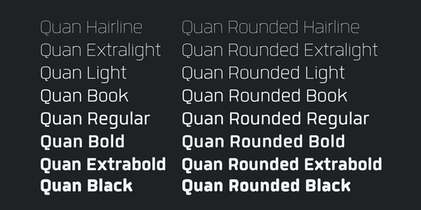 Quan Weights by Typesketchbook