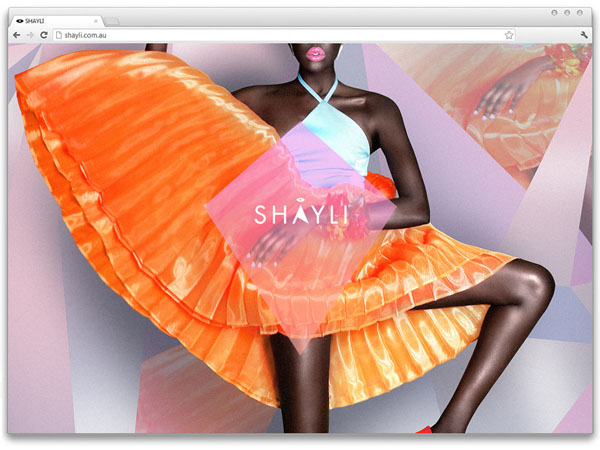 SHAYLI Website by Aldous Massie