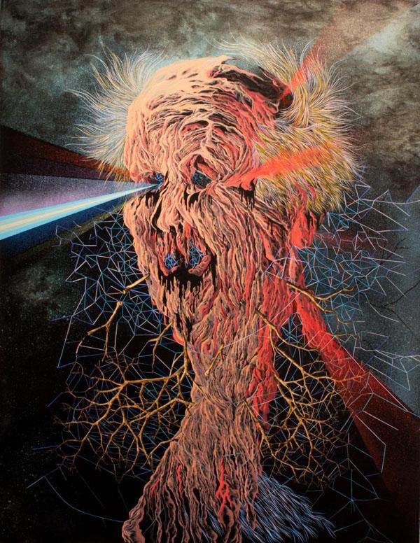 Bizarre Art - Scott Greenwalt Following Our Discussion Last Winter Acrylic On Canvas