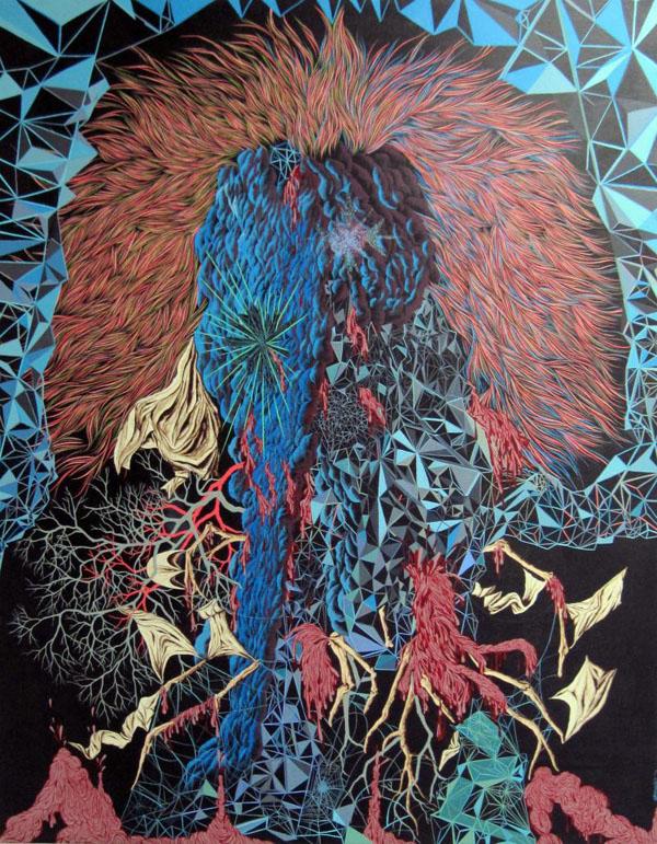 Scott Greenwalt - Something About Albert Hoffman - acrylic on canvas