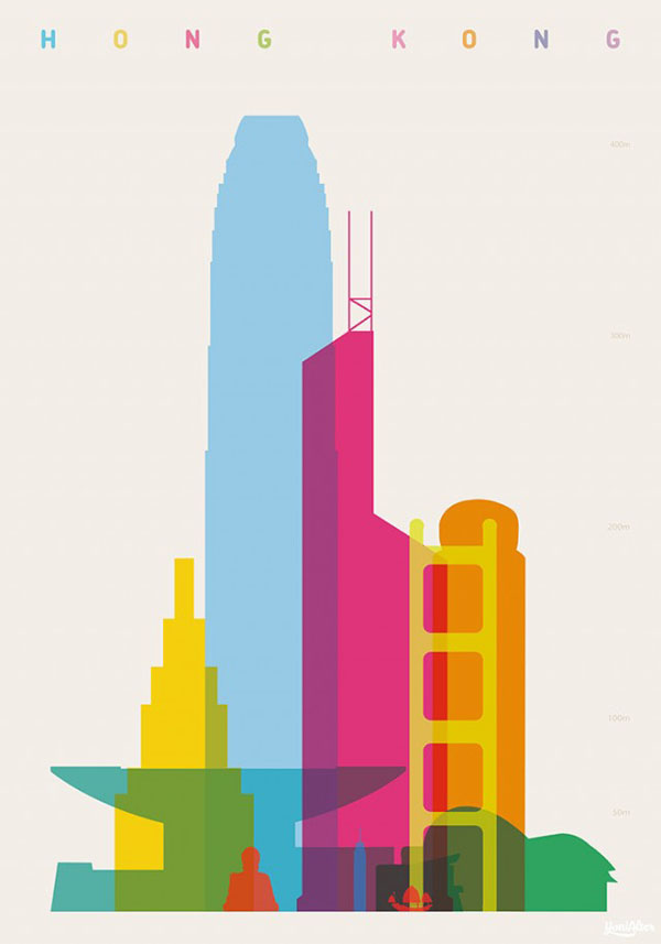 Shapes Of Cities Art Prints By Yoni Alter