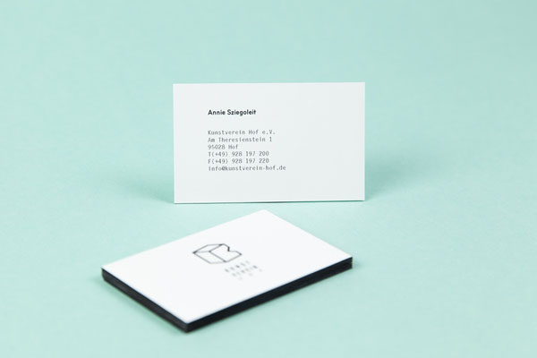 Special K - Kunstverein Hof - Business Card Design by Sebastian Berbig and Derya Ormanci