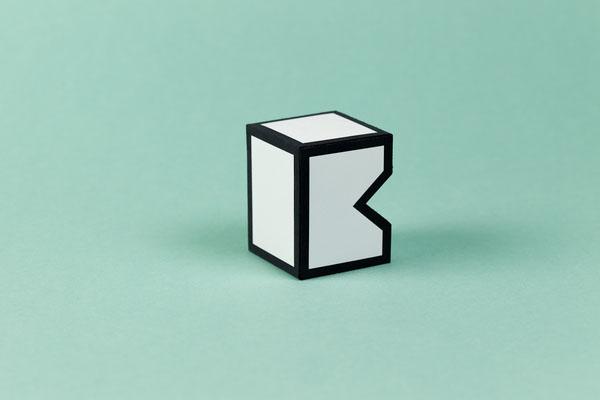 Special K - Kunstverein Hof - Papercraft Logo by Sebastian Berbig and Derya Ormanci