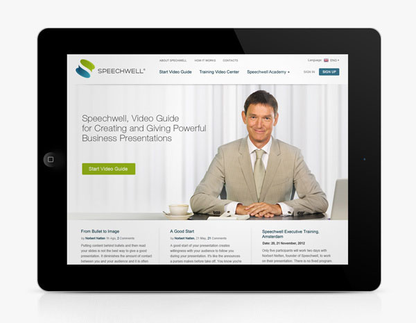 Speechwell - Website Design by Higher