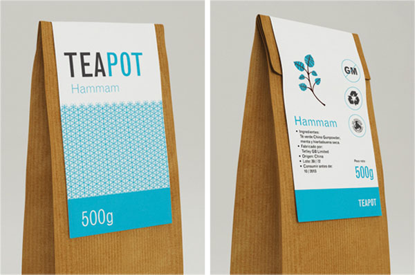 Teapot - Packaging Labels by Nadia Arioui