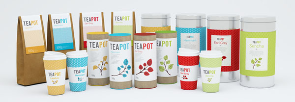 Teapot - Packaging Series by Nadia Arioui