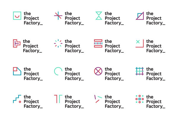 The Project Factory - Logo Versions and Icons