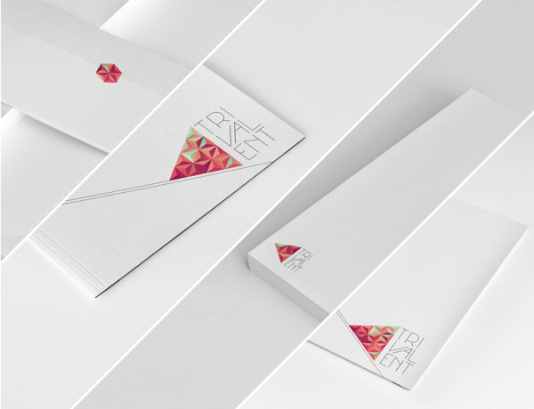 Trivalent Stationery Design by Nina Georgieva