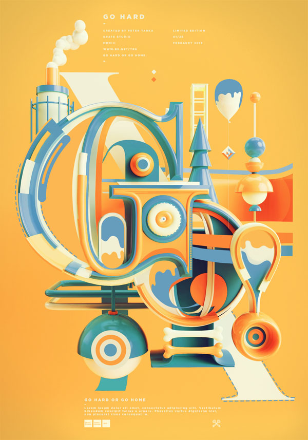 Typograhic Artwork by Peter Tarka