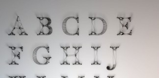 Wire Letters Alphabet by Dan Hoopert