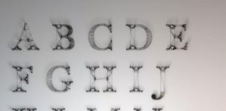 Wire Letters Alphabet by Dan Hoopert