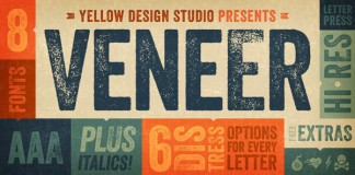 Veneer Type Family by Yellow Design Studio