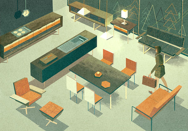 Household - Illustration by Matthew Lyons for a Section of a Guide on Gadgets