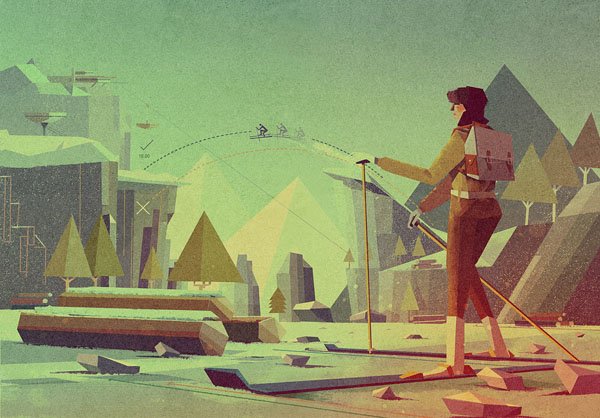 Outdoor - Illustration by Matthew Lyons for a Section of a Guide on Gadgets