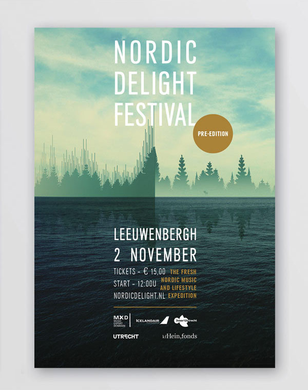 Nordic Delight Festival - Festival Poster by CLEVER°FRANKE