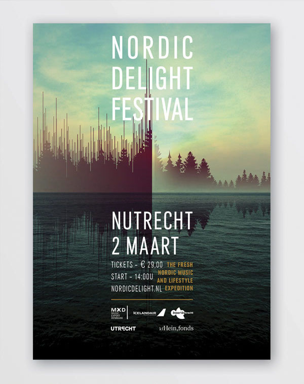 Nordic Delight Festival - Event Poster by CLEVER°FRANKE