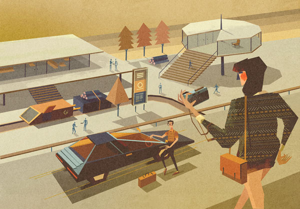 illustrations by matthew lyons for a guide on gadgets. Black Bedroom Furniture Sets. Home Design Ideas