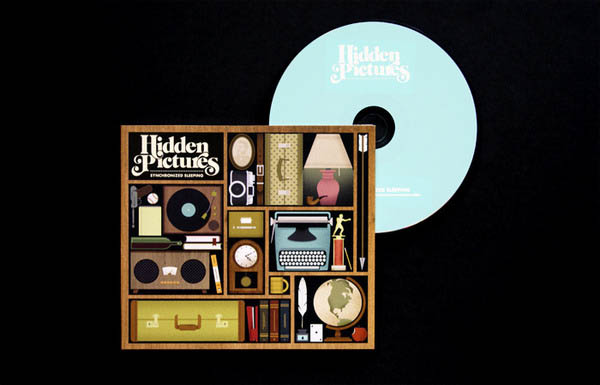 Illustrated Album Art by Jordan Gray for folk-pop band Hidden Pictures