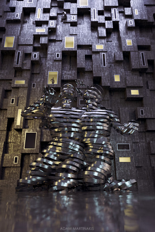 3D Digital Artworks by Adam Martinakis
