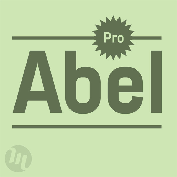 Abel Pro - modern condensed sans serif font by MADType