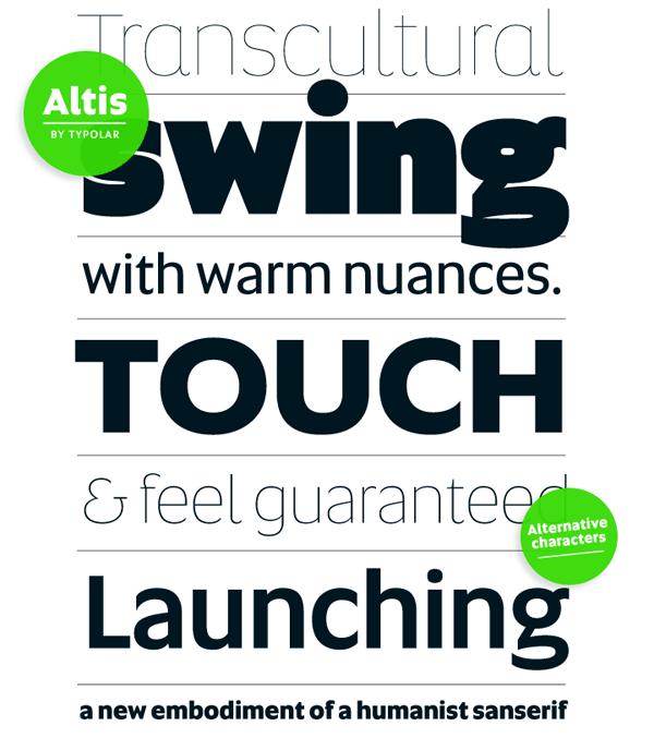 Altis - geometric font family by Typolar