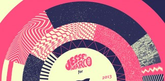 Artwork for a mixtape Jesse Marco creates for Stussy Deluxe by André Britz