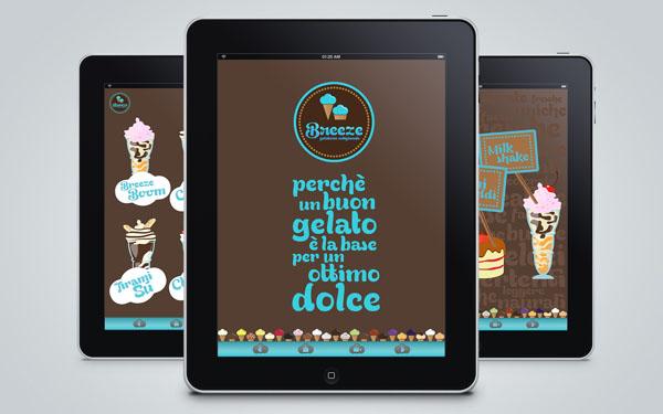 Breeze - Ice Cream Shop App Design by Martin Zarian