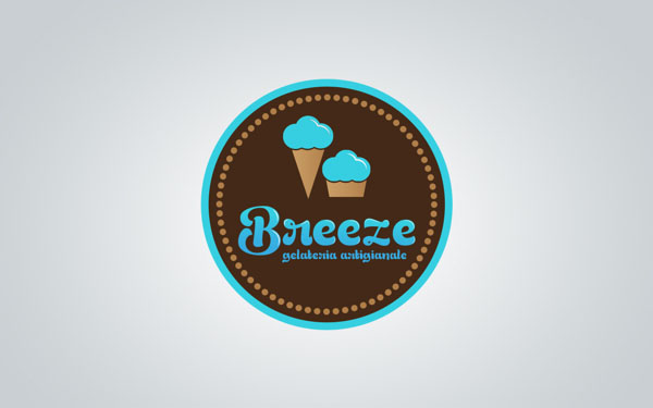Breeze - Ice Cream Shop Logo Design by Martin Zarian