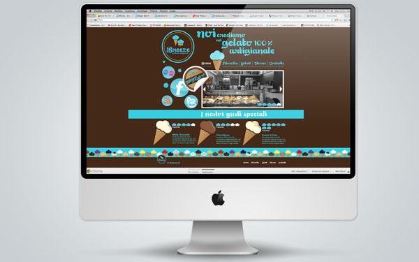Breeze - Ice Cream Shop Website Design by Martin Zarian