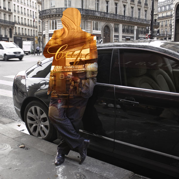 Digital Collages with Human Silhouettes by Nacho Ormaechea
