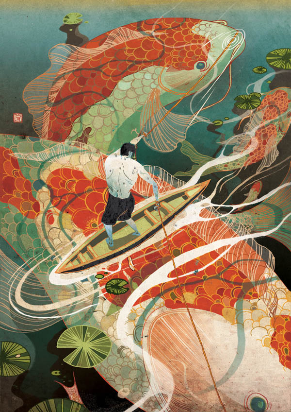 Editorial Illustrations by Victo Ngai for Business and Trade