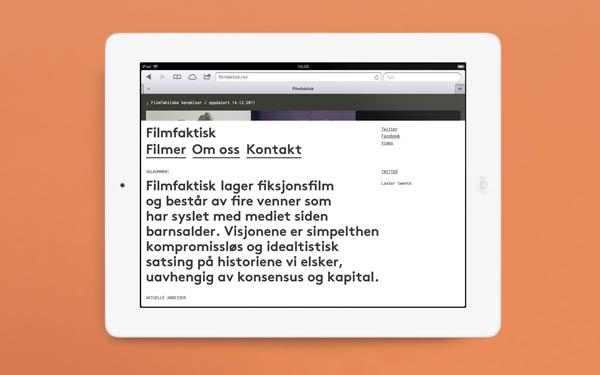 Filmfaktisk - Website Design by Studio Heydays