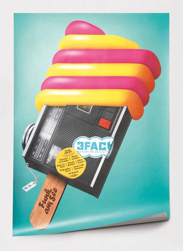 Funk am See Festival - Festival Poster Design by Felix Pfäffli