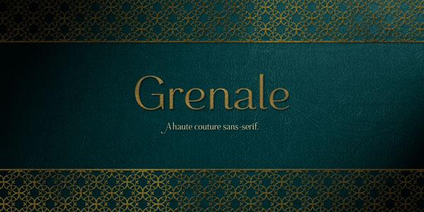 Grenale - elegant sans serif font by Jeremy Dooley