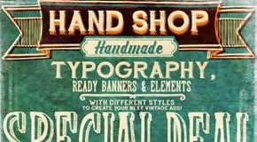 Hand Shop - Handmade Font Packs by Fontscafe