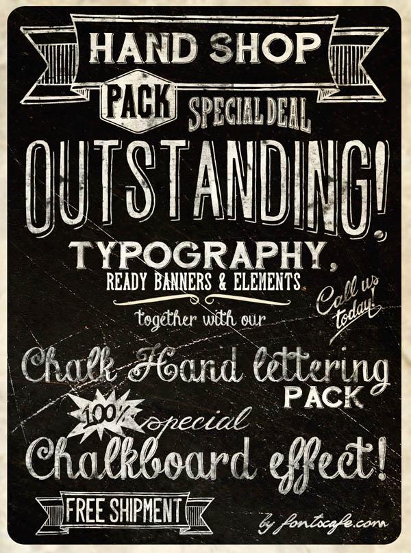 Hand Shop - Handmade Lettering Packs by Fontscafe