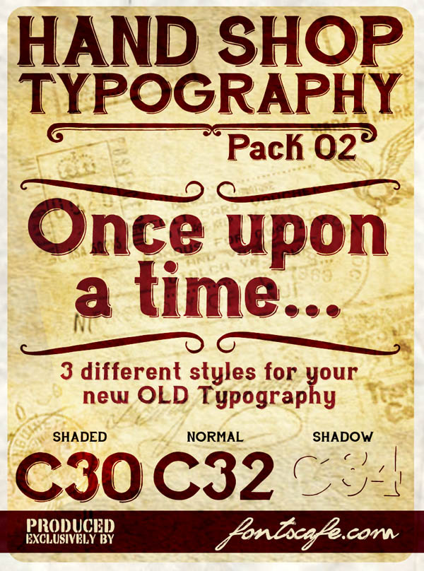 Hand Shop - Handmade Typography Pack 02 by Fontscafe