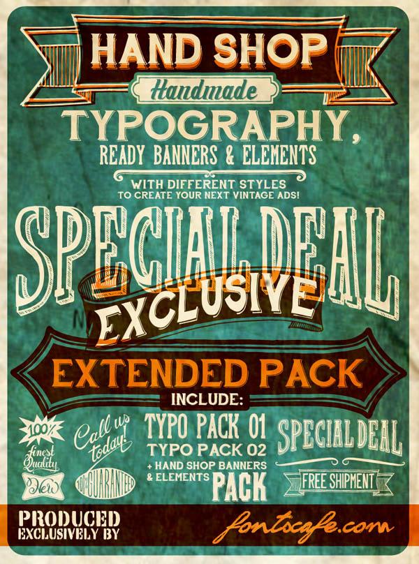 Hand Shop - Ready Banners and Elements by Fontscafe