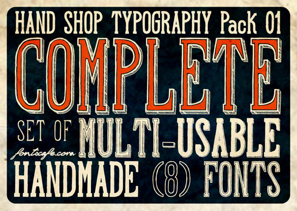 Hand Shop - Typography Pack 01 by Fontscafe