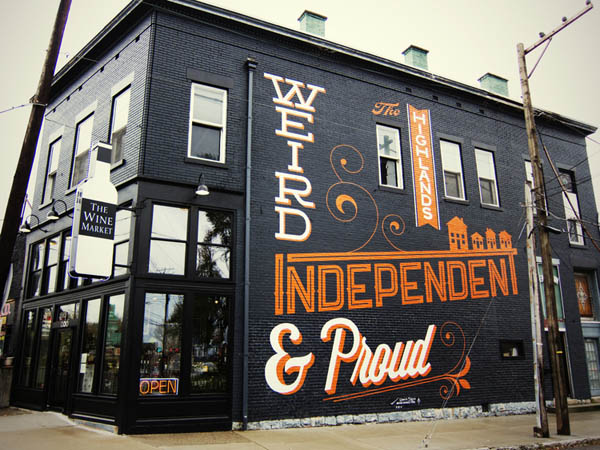 Custom letterings by bryan patrick todd for Mural lettering