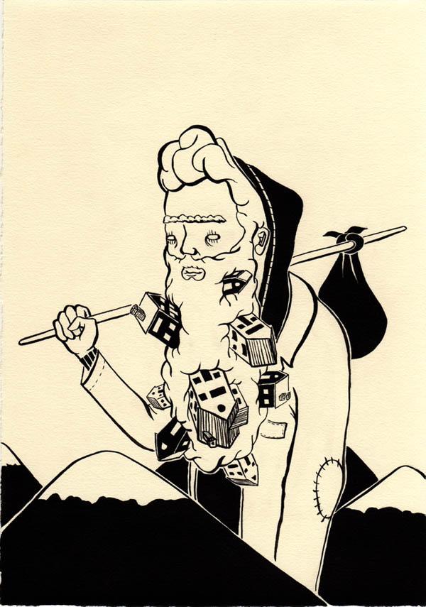 Ink Drawing by Alex Gardner