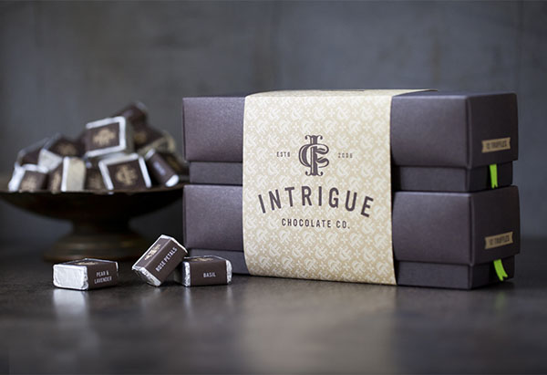 Intrigue Chocolate Co - Brand Identity by Jason Grube and Corianton Hale